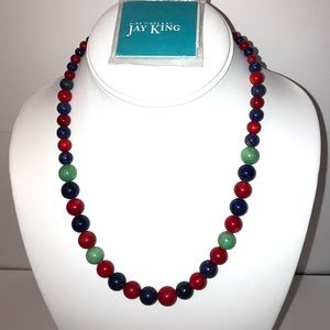 Jay King Red, Blue and Green Necklace